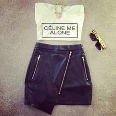 T-SHIRT: http://www.glamzelle.com/products/celine-me-alone-t-shirt