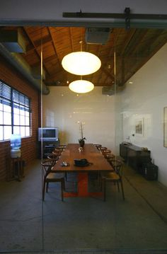 modern industrial office mcm mid century