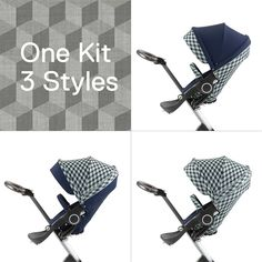 NEW: Stokke Cube Style Kit. Mix & match with your current Stokke textiles... fits all full-size Stokke strollers