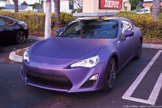 Matte Purple Toyota GT86 / Scion FR-S / Subaru BR-Z (via @7Tune )