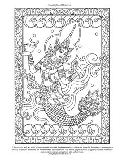 Hippie dover designs for coloring Online Coloring Pages, Printable Adult Coloring Pages, Animal Coloring Pages, Coloring Book Pages, Elephant Coloring Page, Thailand Art, Mandala Doodle, Mermaid Pictures, Thai Art