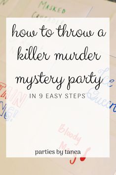 Thinking about throwing a murder mystery party but don't know how? I'm going to teach you how to host a murder mystery party that is, well, killer! Murder Mystery Script, Murder Mystery Games, Mystery Novels, Mystery Dinner Party, Spy Party, Dinner Party Games, Fiesta Party, Host A Party, Party Time