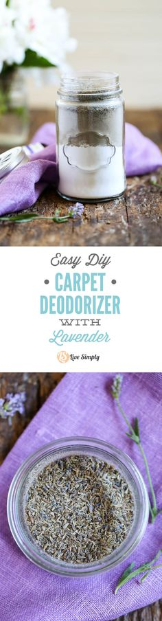 Remove carpet odors naturally with this simple homemade carpet deodorizer! Plus, this deodorizer packs bug (and flea) fighting power. http://livesimply.me/2015/05/26/diy-carpet-deodorizer/