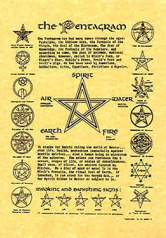 Wiccan Runes and Their Meanings | A4 Wiccan Pentagram poster