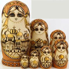 Free Shipping!high Quality Colorful 7pcs Wooden Russian Nesting Doll Toy Russian Doll Wishing Dolls Handmade 0707 >>> Remarkable product available now. : Collectible Dolls for Home Decor