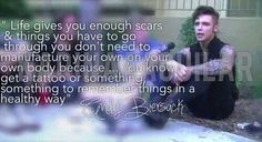 Wise words from Andy Biersack. <3