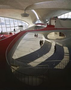 TWA Terminal - Eero Saarinen  #Architecture before the digital age, these lines and fluid forms are simply amazing!