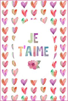 Je t'aime Free Printable | On Sutton Place