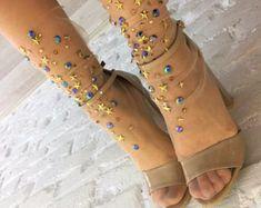 Celestial tulle socks