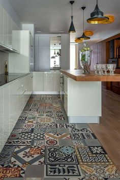 When it has to do with hardwood flooring in your kitchen, there are lots of unique benefits. Hardwood flooring is a superb choice for open floor plans that have the kitchen and dining room. Hardwood kitchen flooring is costlier, but… Continue Reading → Kitchen Floor Tile Patterns, Kitchen Tiles, Kitchen Flooring, New Kitchen, Tile Flooring, Narrow Kitchen, Kitchen White, Vintage Kitchen, Funky Kitchen