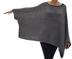 This oversized sweater is worked from the top down, sleeve edge to sleeve edge in Stockinette and Sand Stitch. Techniques used: invisible (provisional) cast on, short rows, picking up stitches, 3 needle bind off, k2tog, SSK, and working in the round.
