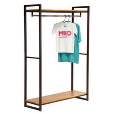 Ideas for bedroom wardrobe ideas garment racks Loft Furniture, Shelf Furniture, Street Furniture, Metal Furniture, Home Decor Furniture, Industrial Furniture, Rustic Furniture, Diy Home Decor, Furniture Design