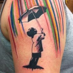 raining colors tattoo - Click image to find more tattoos Pinterest pins