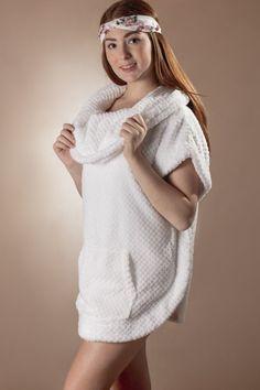 e420fde458 Cozy Poncho Robe with Kangaroo Pocket