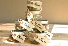"loose leaf tea party favors ""Get Teapsy""  So clever!"