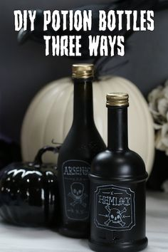These three potion bottles make the perfect Halloween decor!