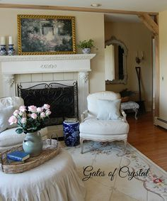 Gates of Crystal: Ticking and Toile and a Photo Shoot with Romantic Homes!