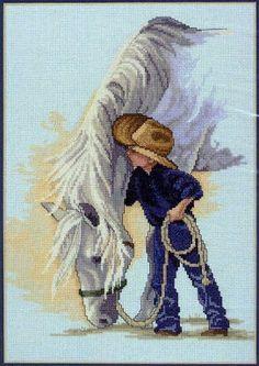 cowboy cross stitch