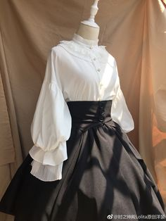 Gothic Fashion 748160556824793501 - Time Temple -The Night Prayer- Vingate Gothic Lolita Blouse Source by GretelvsHansel Old Fashion Dresses, Old Dresses, Vintage Dresses, Vintage Outfits, Fashion Outfits, Vintage Boots, Pretty Outfits, Pretty Dresses, Beautiful Dresses