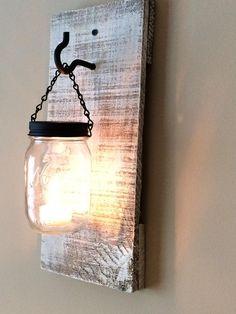 DIY #Pallets and Mason jar Lamps | 99 Pallets