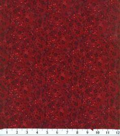 Keepsake Calico Fabric-Maroon Tonal Vine & Keepsake Calico Fabric at Joann.com