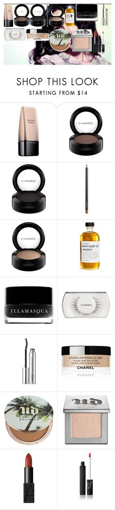 """MEGAN FOX MAKE-UP TUTORIAL"" by oroartye-1 on Polyvore featuring beauty, Illamasqua, MAC Cosmetics, Fig+Yarrow, Clinique, Chanel, Urban Decay and NARS Cosmetics"