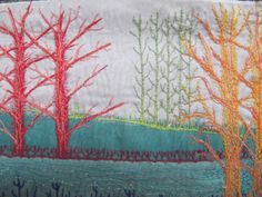 collage and machine embroidery