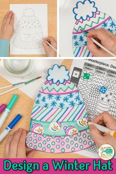Searching for creative winter art projects for kids that your students will love? Try a roll and draw art game to design Class Art Projects, Christmas Art Projects, Winter Art Projects, Art Projects For Adults, Toddler Art Projects, Winter Crafts For Kids, Kids Crafts, Art Project For Kids, Spring Crafts