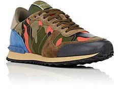 Valentino Camouflage Rockrunner Sneakers - Sneakers - Barneys.com