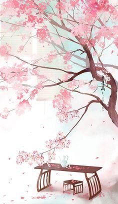 Download Free Android Wallpaper Garden Frühling Wallpaper, Flower Background Wallpaper, Anime Scenery Wallpaper, Landscape Wallpaper, Kawaii Wallpaper, Flower Backgrounds, Wallpaper Backgrounds, Phone Wallpaper Pink, Phone Wallpapers