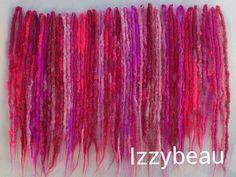 Pinks, pinks, pinks. Skinny crochet dreads by Izzybeau. #Izzybeau #Dreads