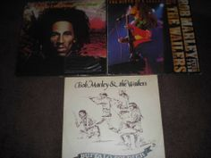 """Collection of 3 Bob Marley and the Wailers 12"""" vinyl records"""