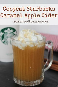 Recipes I like If you like hot apple cider then you need to try this copycat version of Starbucks Caramel Apple Cider! The perfect way to warm up on a. Starbucks Apple Cider, Hot Apple Cider, Apple Juice, Hot Caramel Apple Cider Recipe, Spiced Cider, Juice 2, Apple Recipes, Fall Recipes, Holiday Recipes