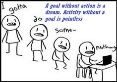 A goal without action is a dream. Activity without a goal is pointless
