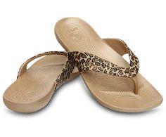 Women's Kadee Leopard Print Flip   Women's' Comfortable Flips   Crocs Official Site