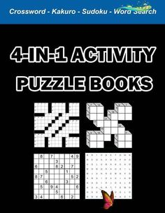 Digital Download 100 Printable Activity Puzzles For Adults & | Etsy  <br> Printable Crossword Puzzles, Puzzle Books, Printables, Activities, Digital, Words, Etsy, Print Templates, Horse