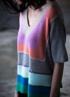 Cashmere Intarsia Popover - White + Warren White And Warren, Fall Winter 2014, White Sweaters, Cashmere, Tunic Tops, Women, Fashion, White Blouses, Moda