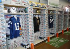 Super Bowl Grocery Store Soda and Beer Displays