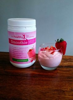 """If you love a thick smoothie, then here is a decadent smoothie recipe that almost feels like you are eating a dessert! A big thank you to Janet Cook for sending it in! Janet says ,""""It almost more of a dessert than a smoothie and is best enjoyed with a … Healthy Mummy Smoothie, Healthy Mummy Recipes, Smoothie Recipes, Pregnancy Cravings, Strawberry Smoothie, Skinny Recipes, Deserts, Room Ideas, Feels"""