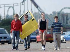 the inbetweeners bbc - roller coaster ride anyone? British Tv Comedies, Classic Comedies, British Comedy, English Comedy, British Humour, Bbc Channel, The Inbetweeners, Thorpe Park, Netflix Streaming
