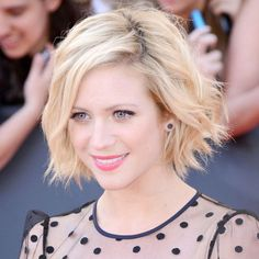 Brittany Snow // Tousled // Blonde // Bob // Short // Choppy // Wavy // Butter // Bright // Natural Root