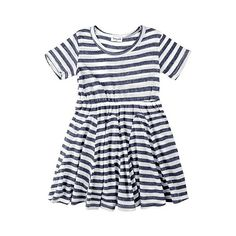 French Stripe Short Sleeve Dress ❤ liked on Polyvore featuring kids, dresses, baby, baby clothes and baby girl