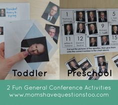 Two awesome general conference activities for toddlers and preschoolers. All printables are free and included in the post. Envelope picture ...