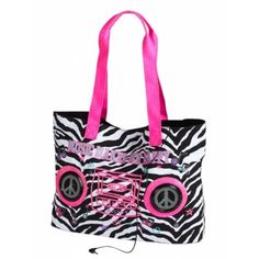 Justice Clothes for Girls Outlet | Girls Clothes | T-ZEBRA SPEAKER TOTE | Shop Justice