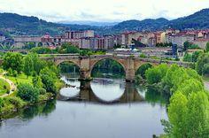 Ourense Orense - Galice - Espagne - 156 le pont romain au dessus du Río Miño