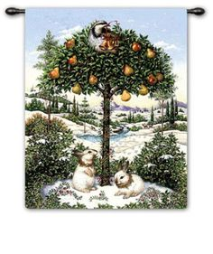 partridge in a pear tree | Partridge in a Pear Tree Wall Tapestry by Lynn Bywaters at AllPosters ...
