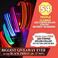 54 PEOPLE CLAIMED STRIPPED LED NYON COLLAR On the occasion of Black Friday I had Launched The Biggest Giveaway Ever on my Store from 26th-27th Nov.  From the time I have Launched the 100% Discount the rush is never ending. 59 People claimed Bandana Collar 67 People claimed Rhombus Led Collar 58 People claimed Led Harness  P.S-- PLEASE NOTE STOCK IS RUNNING OUT SO MAKE YOUR MOVE FAST.  HURRY HOPE TO SEE AT MY STORE- collarbuddies.net #dach #dachshund #dachshundsofinstagram #dachshunds…