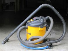 Casters keep falling off your shop-vac? Use the exhaust to turn it into a hovercraft.