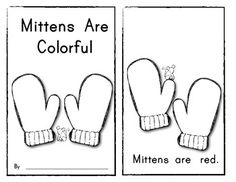 """Mittens Are Colorful"" Emergent Reader Book (Sight Words & Color Words) Great for the sight word ""ARE""!! $"