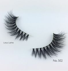 """New Arrivals! Crystal Collection: Ultra Fluffy 3D mink lash styles with a soft and flexible invisible band """"bandless"""" for indescribable comfort and the most natural look possible. Pictured: LOTUS No. 502   #lotuslashes502 #bandless #crystalcollection"""